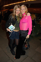 Left to right, LAINEY SHERIDAN-YOUNG and NOELLE RENO at a party to launch Pearl Lowe's fashion held at The Cross. 141 Portland Road, Holland Park, W11 on 30th October 2006.<br />