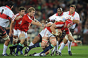Lock of the British&Irish Lions, Alun-Wyn Jones on the charge.<br /> Rugby - 090602 - British&Irish Lions v Xerox Lions - Coca-Cola Park - Johannesburg - South Africa. The British Lions won 74-10 scoring 10 tries.<br /> Photographer : Anton de Villiers / SASPA