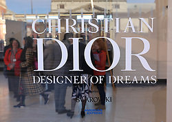 A sign into the 'Christian Dior: Designer of Dreams' at the Victoria and Albert Museum, London. Picture dated: Wednesday January 30, 2019. Photo credit should read: Isabel Infantes / EMPICS Entertainment.
