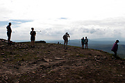 Local people at the top of Penyfan in the Brecon Beacons, September 2002. Photo © Rob Watkins