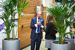 © Licensed to London News Pictures. 09/06/2017. Aylesbury, UK.  David Lidington (Conservative) is interviewed by the media after being announced as the winner of the Aylesbury constituency in the 2017 general election.  Photo credit: Cliff Hide/LNP
