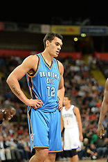Manchester-Basketball, New Zealand's Steven Adams in action for the Oklahoma Thunder