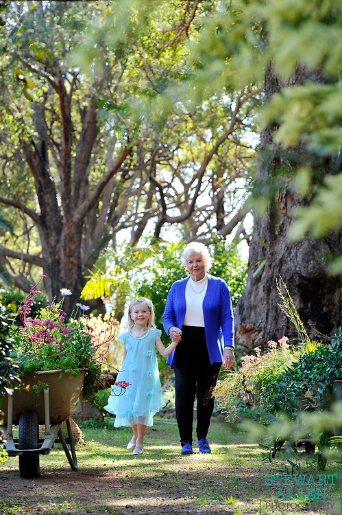 CHARTWELL GARDENS, home of Susan Hildebrandt, pictured with great grand daughter Ellie Maddison, 5.<br /> Great Eastern Hwy, Mundaring  MY STYLE FOR HOME SPRING GARDEN AUG 31