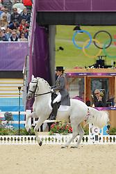 Munoz Diaz, Juan Manuel, Fuego<br /> London - Olympische Spiele 2012<br /> <br /> Grand Prix Special, Teamwertung<br /> © www.sportfotos-lafrentz.de/Stefan Lafrentz