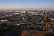 The Calumet neighborhood and the former USS Lead facility, foreground, in East Chicago.