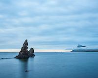 Árnesstapar Sea Stacks in Trékyllisvík. Árneshreppur, Strandir area Northwest Iceland.