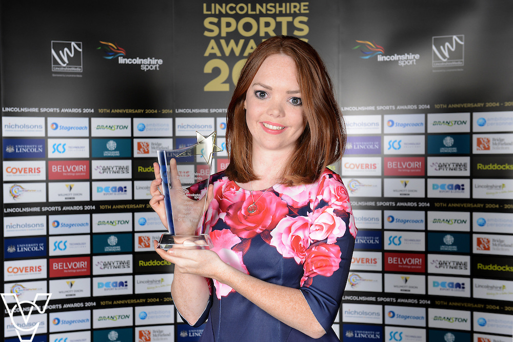 Lincolnshire Sport Awards 2014.<br /> <br /> Coveris Sports Personality of the Year 2014<br /> Winner: Jade Etherington<br /> <br /> Picture: Jane Harrison/Chris Vaughan Photography for Lincolnshire Sport<br /> Date: November 6, 2014