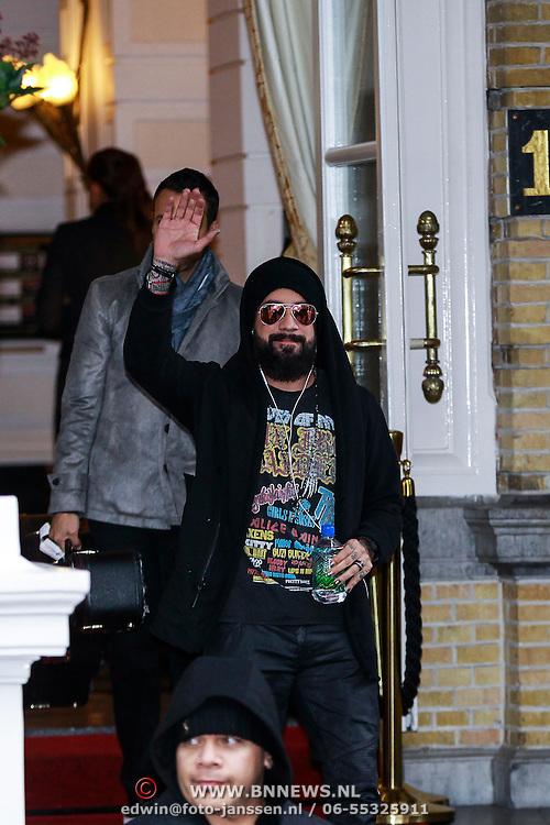 NLD/Amsterdam/20131108 - The Bachstreet Boys leaving their hotel,