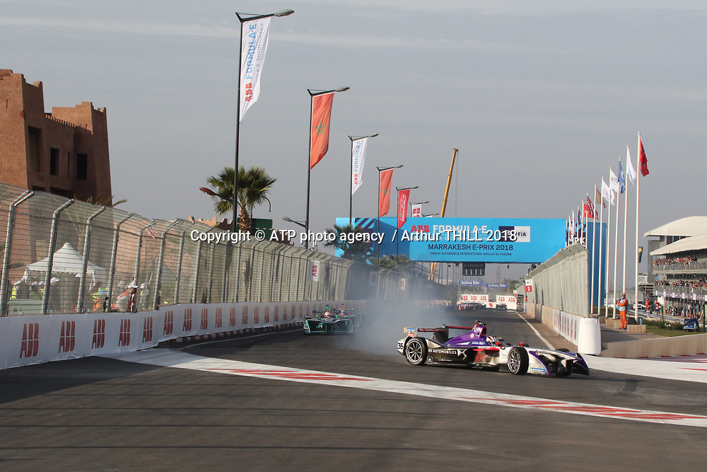 36, Alex Lynn, (GB) - DS Virgin Racing, DS-Virgin DSV-02<br /> E-Prix, FIA Formula E, Formula E Grand Prix in Marrakesh, Morocco on 13 January 2018. Circuit International Automobile Moulay El Hassan -  Formel E, Elektro e-prix Autorennen, Marrakesch, Marokko, Maroc, <br /> fee liable image, copyright@ ATP Arthur THILL