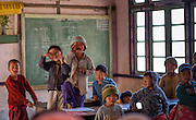 Kids laughing in school (Myanmar)