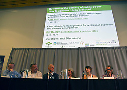 Pictured: Bill Beasrley, Centre for Ecology and Hydrology, Jon Westlake, Welsh Governmnet, DEavid Balock, Institure for European Environmental Policy, Kate Hool (Scottish natural Heritage,Ann Brand, RSPB and Darren Moseley, Forest Reserach, made up the panel for the end of the morning Q&amp;A  session<br /> <br /> Cabinet Secretary Roseanna Cunningham joined a number of speakers addressing the The Land Use and Environment Conference, entitled Rewarding the Delivery of Public Goods - How to Achieve This in Practice in Edinburgh Toiday.  The conference was coordinated by Scotland's Rural College. <br /> <br /> <br /> Ger Harley | EEm 28 November 2018