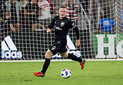 WASHINGTON, DC - AUGUST 29: D.C. United forward Wayne Rooney (9) on the ball during a MLS match between D.C United and the Philadelphia Union on August 29, 2018, at Audi Field, in Washington, DC. <br /> The Philadelphia Union defeated DC United 2-0.<br /> (Photo by Tony Quinn/Icon Sportswire)