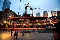 USA NEW YORK JUN10 - One World Trade Centre Plaza building site in downtown Manhattan, New York...jre/Photo by Jiri Rezac..© Jiri Rezac 2010