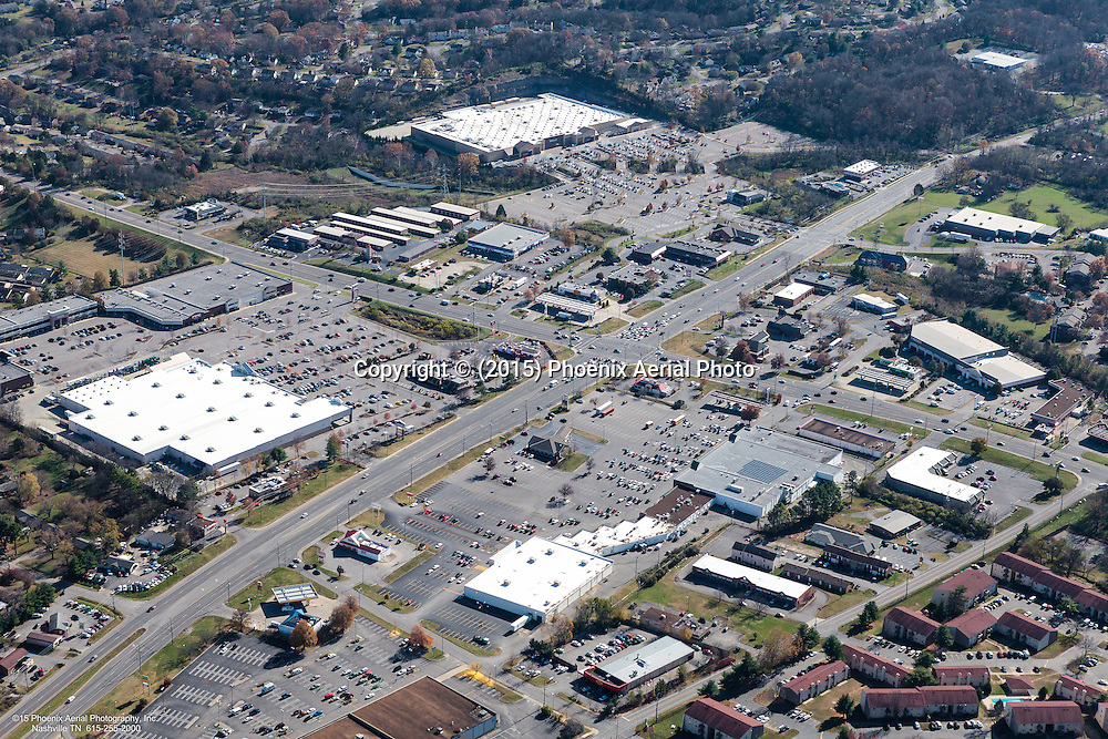 Aerial Photo Of The Intersection Of Bell Road And Nolensville Pike In Nashville Tennessee
