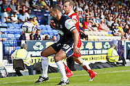 Picture by David Horn/Focus Images Ltd +44 7545 970036.18/08/2012.Chris Barker of Southend United shields the ball during the npower League 2 match at Roots Hall, Southend.