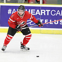 COBOURG, - Dec 13, 2015 -  Game #1 - Czech Republic vs Canada West at the 2015 World Junior A Challenge at the Cobourg Community Centre, ON. Brinson Pasichnuk #6 of Team Canada West shoots the puck during the second period.(Photo: Tim Bates / OJHL Images)