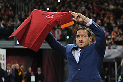 November 27, 2018 - Rome, Italy - Former captain Francesco Totti moved during the ceremony after Roma entering him into the club's Hall of Fame at Olimpico Stadium in Rome, Italy on November 27, 2018. (Credit Image: © Federica Roselli/NurPhoto via ZUMA Press)