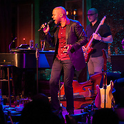 December 4, 2012 - New York, NY : Actor and singer Darius de Haas, foreground center, performs at the nightclub 54 Below in Manhattan on Tuesday evening with, background from left, pianist Michael Mitchell, bassist George Farmer, and guitarist Marvin Sewell. Not pictured is drummer Kenneth Salters.  CREDIT: Karsten Moran for The New York Times