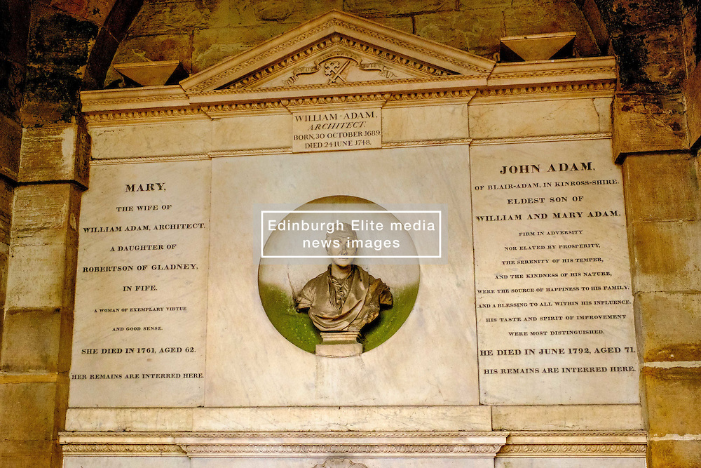 The tomb of William Adam, Architect in Grey Friars church yard in Edinburgh, Scotland<br /> <br /> (c) Andrew Wilson | Edinburgh Elite media