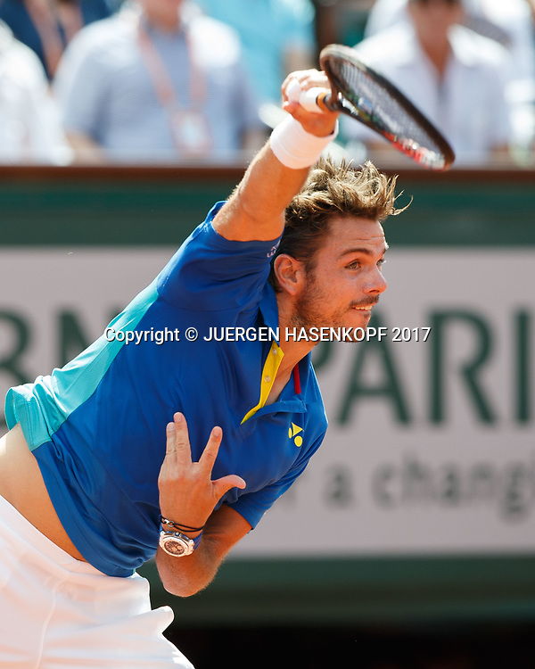 STAN WAWRINKA (SUI)<br /> <br /> Tennis - French Open 2017 - Grand Slam / ATP / WTA / ITF -  Roland Garros - Paris -  - France  - 11 June 2017.