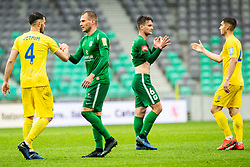 Marko Putincanin of NK Olimpija and Amadej Vetrih of NK Domzale during Football match between NK Olimpija Ljubljana and NK Domzale in 33th Round of Prva liga Telekom Slovenije 2018/19, on May 15th, 2019, in Stadium Stozice, Slovenia. Photo by Grega Valancic / Sportida