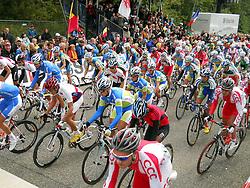 Riders at start during the Men´s Under 23 Road Race on day five of the UCI Road World Championships on September 23, 2011 in Copenhagen, Denmark. (Photo by Marjan Kelner / Sportida Photo Agency)