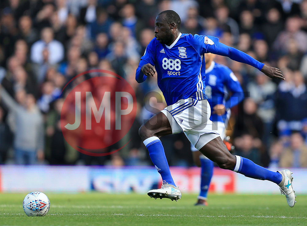 Cheick Ndoye of Birmingham City - Mandatory by-line: Paul Roberts/JMP - 29/10/2017 - FOOTBALL - St Andrew's Stadium - Birmingham, England - Birmingham City v Aston Villa - Skybet Championship