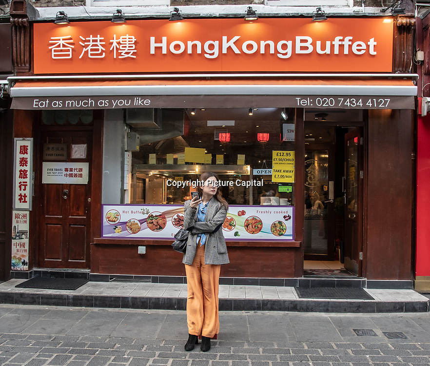 Hong Kong Buffet in London Chinatown Sweet Tooth Cafe and Restaurant at Newport Court and Garret Street on 15 June 2019, UK.