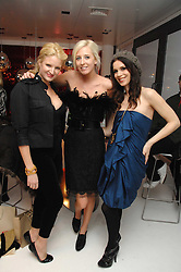 Left to right, FIONA SCARRY, The HON.SOPHIA HESKETH and LARA BOHINC at a party hosted by PPQ of Mayfair at the Fiat Flagship Store, 105 Wigmore Street, London W1 on 11th February 2008.<br />
