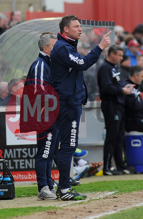 Cheltenham Town's Assistant Manager Steve Elliott- Photo mandatory by-line: Nizaam Jones - Mobile: 07966 386802 - 28/03/2015 - SPORT - Football - Cheltenham - Whaddon Road - Cheltenham Town v Plymouth Argyle - Sky Bet League Two