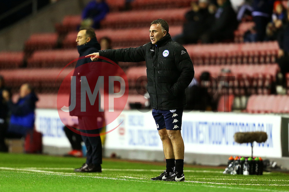 Wigan Athletic manager Warren Joyce points ahead of Sheffield Wednesday manager Carlos Carvalhal - Mandatory by-line: Matt McNulty/JMP - 03/02/2017 - FOOTBALL - DW Stadium - Wigan, England - Wigan Athletic v Sheffield Wednesday - Sky Bet Championship
