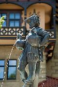Brunnenfigur, Meiningen, Thüringen, Deutschland. .fountain figure, Meiningen, Thuringia, Germany