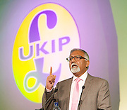 UKIP Annual Party Conference <br /> 26th September 2014 <br /> at Doncaster Racecourse, Great Britain <br /> <br /> <br /> <br /> Amjad Bashir MEP <br /> <br /> <br /> <br /> <br /> Photograph by Elliott Franks <br /> Image licensed to Elliott Franks Photography Services