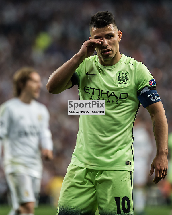 Manchester City forward Sergio Aguero (10)  in the Champions League semi-final match between Real Madrid and Manchester City<br /> <br /> (c) John Baguley | SportPix.org.uk