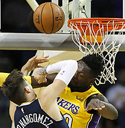 Basketball: 20171005 Lakers vs Nuggets