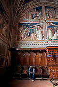 Frescos line the wall of a room inside the Basilica di San Miniato al Monte (Basilica of St Minias on the Mountain) stands atop one of the highest points in Florence, Italy. (Sam Lucero photo)