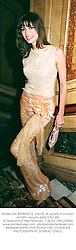 Model LISA BARBUSCIA. (Lisa B) at a party in London on 26th January 2002.			OWY 292