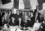 Presenting the Cup after the Louth vs Cork All Ireland Football Final.22/09/1957..Louth played Cork on 22 September 1957.  The attendance at the match was 72,732, the final score was Louth 1-9 Cork 1-7. This was their third and final All Ireland Final Win - the others having been in 1910 and 1912.