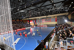 Red Arena in Velenje at handball match of 5th Round of qualifications for EHF Euro 2010 in Austria between National team of Slovenia vs Bulgaria, on November 30, 2008 in Velenje, Slovenia. (Photo by Vid Ponikvar / Sportida)