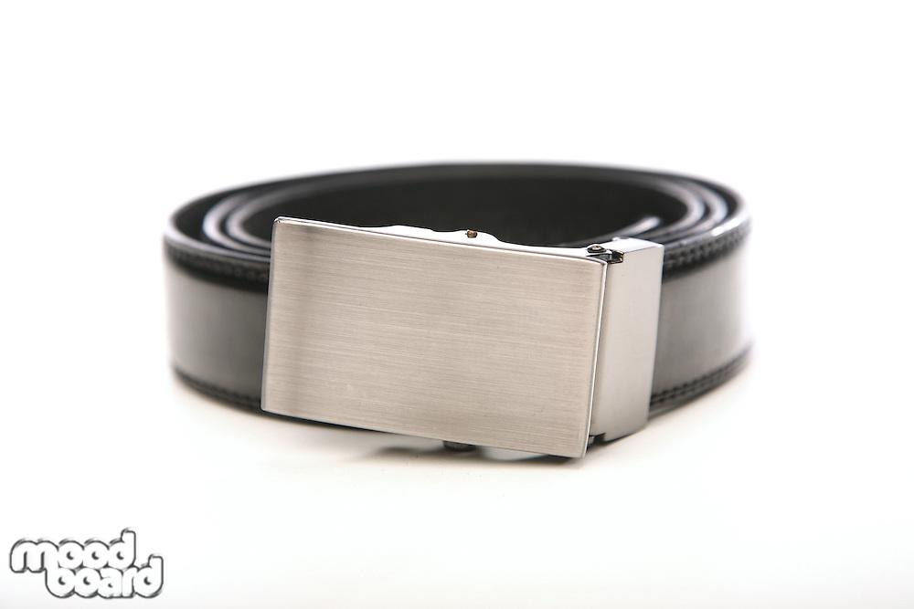 Black belt on white bacground