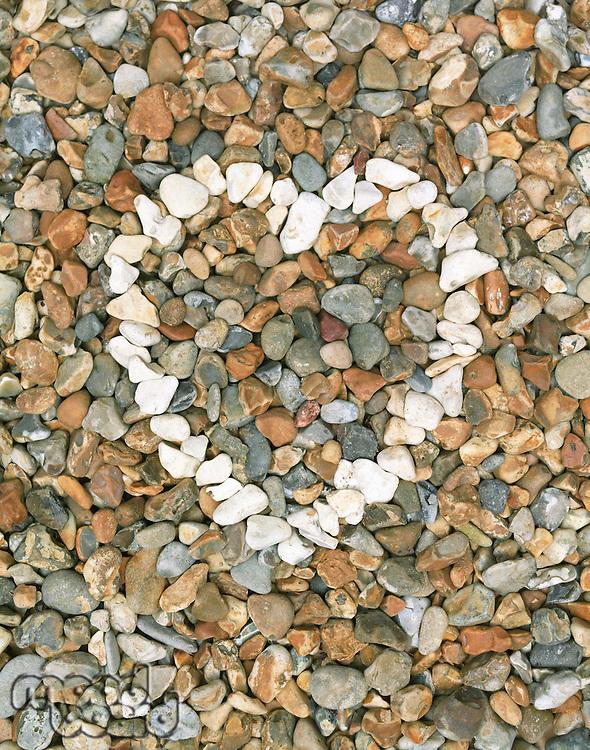 Pebbles stones heart (close-up)