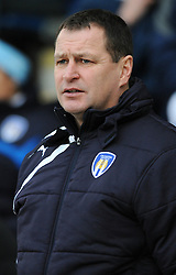 Colchester United Manager, Tony Humes - Photo mandatory by-line: Dougie Allward/JMP - Mobile: 07966 386802 - 21/02/2015 - SPORT - Football - Colchester - Colchester Community Stadium - Colchester United v Bristol City - Sky Bet League One