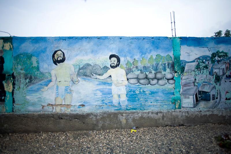 A mural in Port Au Prince. Haiti. 3/19/2010 Photo by Ben Depp