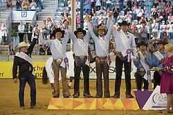 Team Germany, Schmitt Volker, Rohde Stephan, Ernst Elias, Ludwig Grischa<br /> Team Final<br /> European Championships - Aachen 2015<br /> © Hippo Foto - Jon Stroud<br /> 14/08/15