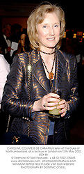 CAROLINE, COUNTESS DE CABARRUS sister of the Duke of Northumberland, at a lectrure in London on 13th May 2002.OZX 68