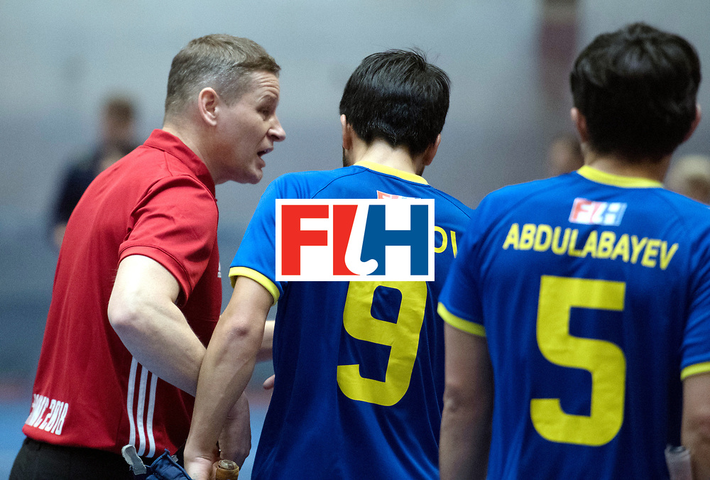 BERLIN - Indoor Hockey World Cup<br /> Kazakhstan - South Africa<br /> foto: LINKOWSKI Pawel<br /> WORLDSPORTPICS COPYRIGHT FRANK UIJLENBROEK