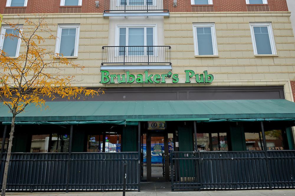Exterior of Brubaker's Pub.