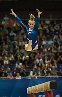 Marine BREVET (FRA), competes in the beam, The London Prepares Visa International Gymnastics