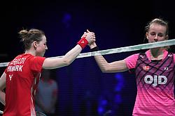 DK:<br /> 20190209, &Aring;rhus, Danmark:<br /> Badminton Danmark FZ Forza/RSL DM 2019. <br /> Dame single: Mia Blichfeldt vs. Line Kj&aelig;rtsfeldt. <br /> Guldvinder Line Kj&aelig;rsfeldt. S&oslash;lvvinder Mia Blichfeldt.<br /> Foto: Lars M&oslash;ller<br /> UK: <br /> 20190209, Aarhus, Denmark:<br /> Badminton Danmark FZ Forza/RSL DM 2019.<br /> Dame single: Mia Blichfeldt vs. Line Kj&aelig;rtsfeldt. Guldvinder Line Kj&aelig;rsfeldt. S&oslash;lvvinder Mia Blichfeldt.<br /> Photo: Lars Moeller
