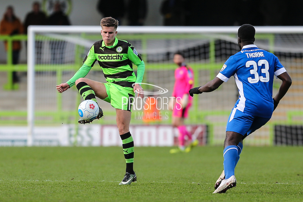 Forest Green Rovers Charlie Cooper(20) controls the ball during the Vanarama National League match between Forest Green Rovers and Macclesfield Town at the New Lawn, Forest Green, United Kingdom on 4 March 2017. Photo by Shane Healey.